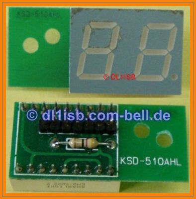 2x 7-Segment LED Display 13mm