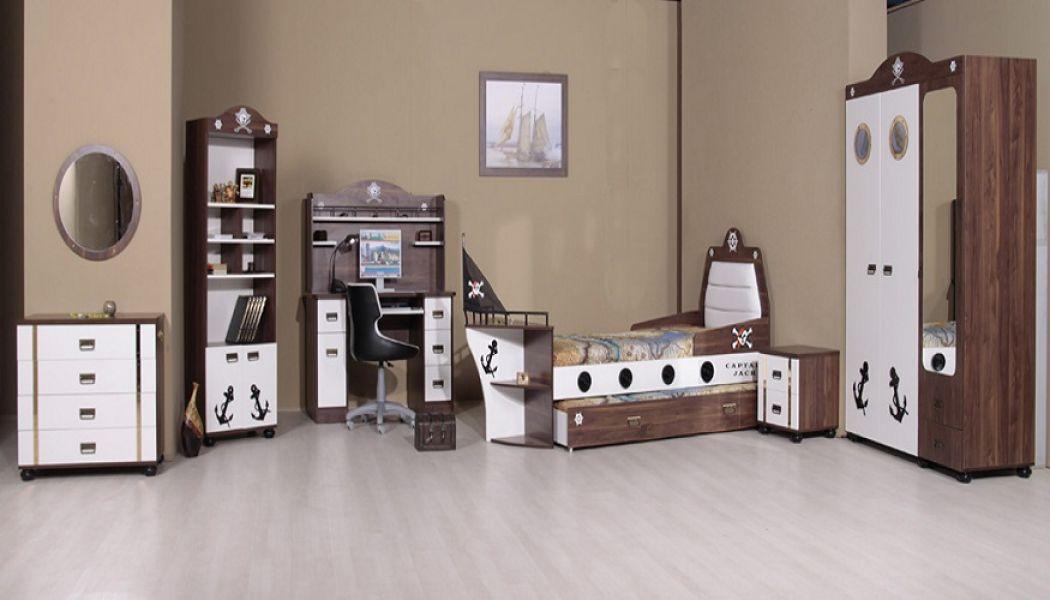 kinderbett pirat schiffsbett inklusive rollrost mit. Black Bedroom Furniture Sets. Home Design Ideas