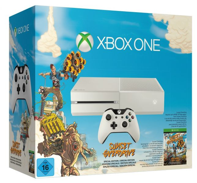 Microsoft XBOX One Konsolen Bundle 500GB, weiß incl. Sunset Overdrive