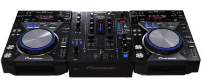 Pioneer Black CDJ400K & Black DJM400K Ltd Flightcase Package