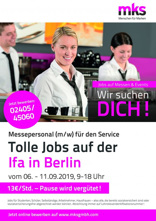**TOP-VERDIENST** Studentenjobs (w/m/d) in Berlin! Tagesverdienst ca. 110 € brutto!