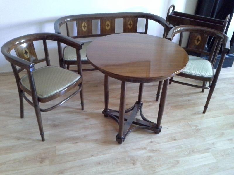 thonet m bel sitzgruppe. Black Bedroom Furniture Sets. Home Design Ideas