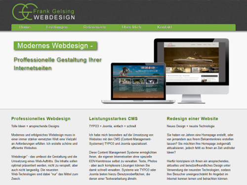 Webdesign | Website | Homepage mit CMS Joomla, Typo3