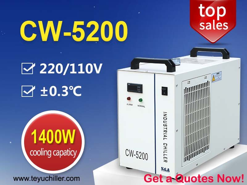 Compact Water Chiller CW5200 for 130W DC Co2 Laser Cutting Machine