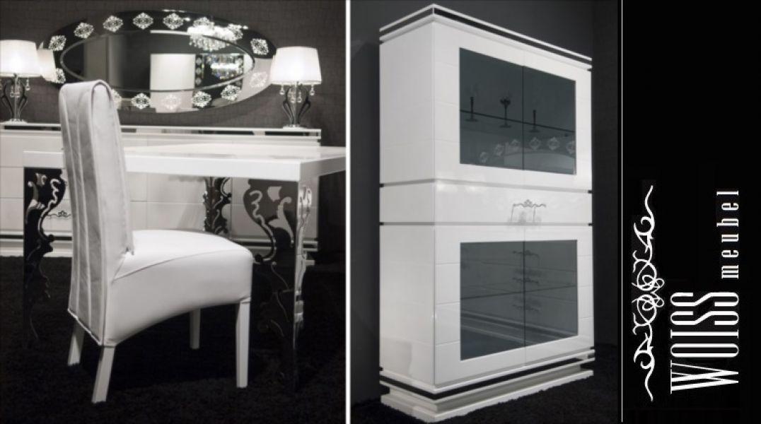 TOP Angebot WOISS Möbel Wohnzimmer Einrichtung Hochglanz weiß