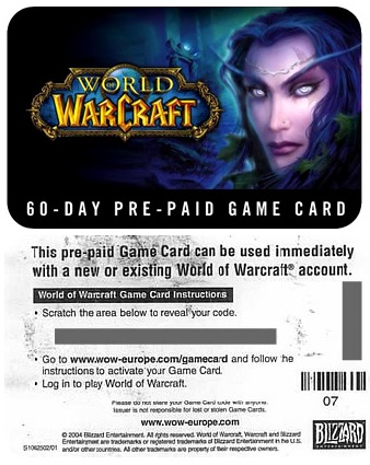World of Warcraft 60 Tage GameCard WoW GC günstig kaufen PC